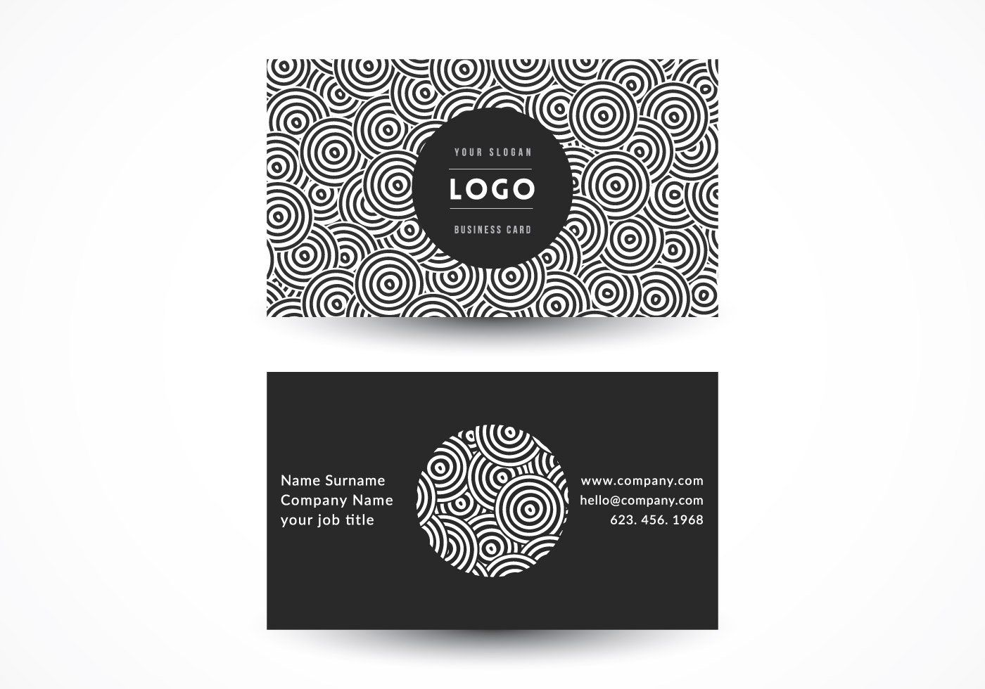 Geometric circles business card vector graphic business template geometric circles business card vector graphic business template business card communication psychedelic friedricerecipe Choice Image