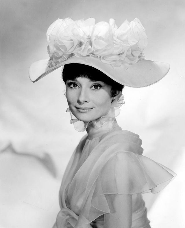 Beautiful Publicity Stills of Audrey Hepburn as Eliza Doolittle in 'My Fair Lady' ~ vintage everyday #hollywoodicons