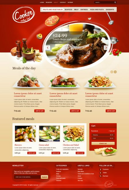 restaurants templates