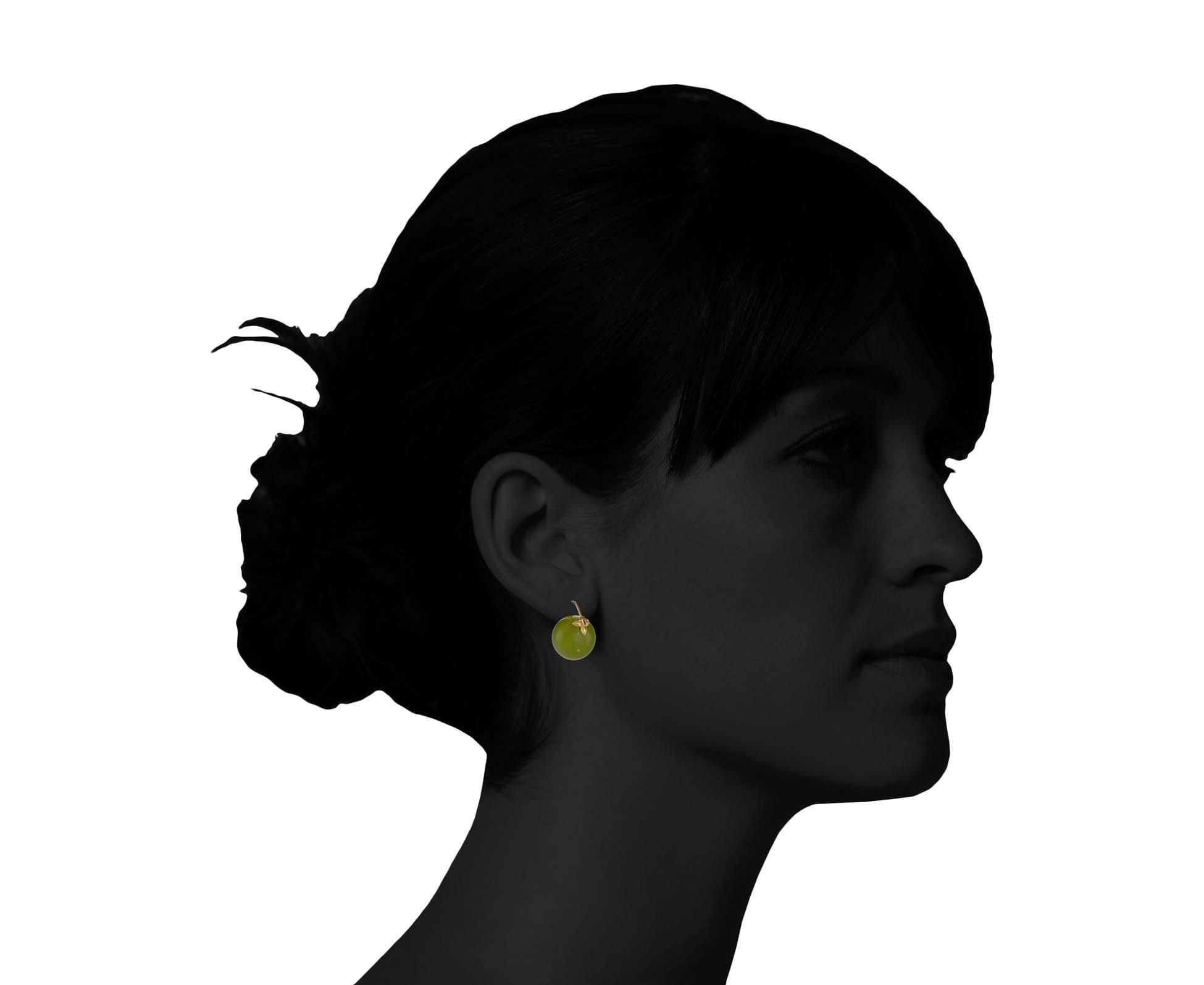 Gabrielle Sanchez Olive Jade Earrings In Other At Twistonline 3950 3