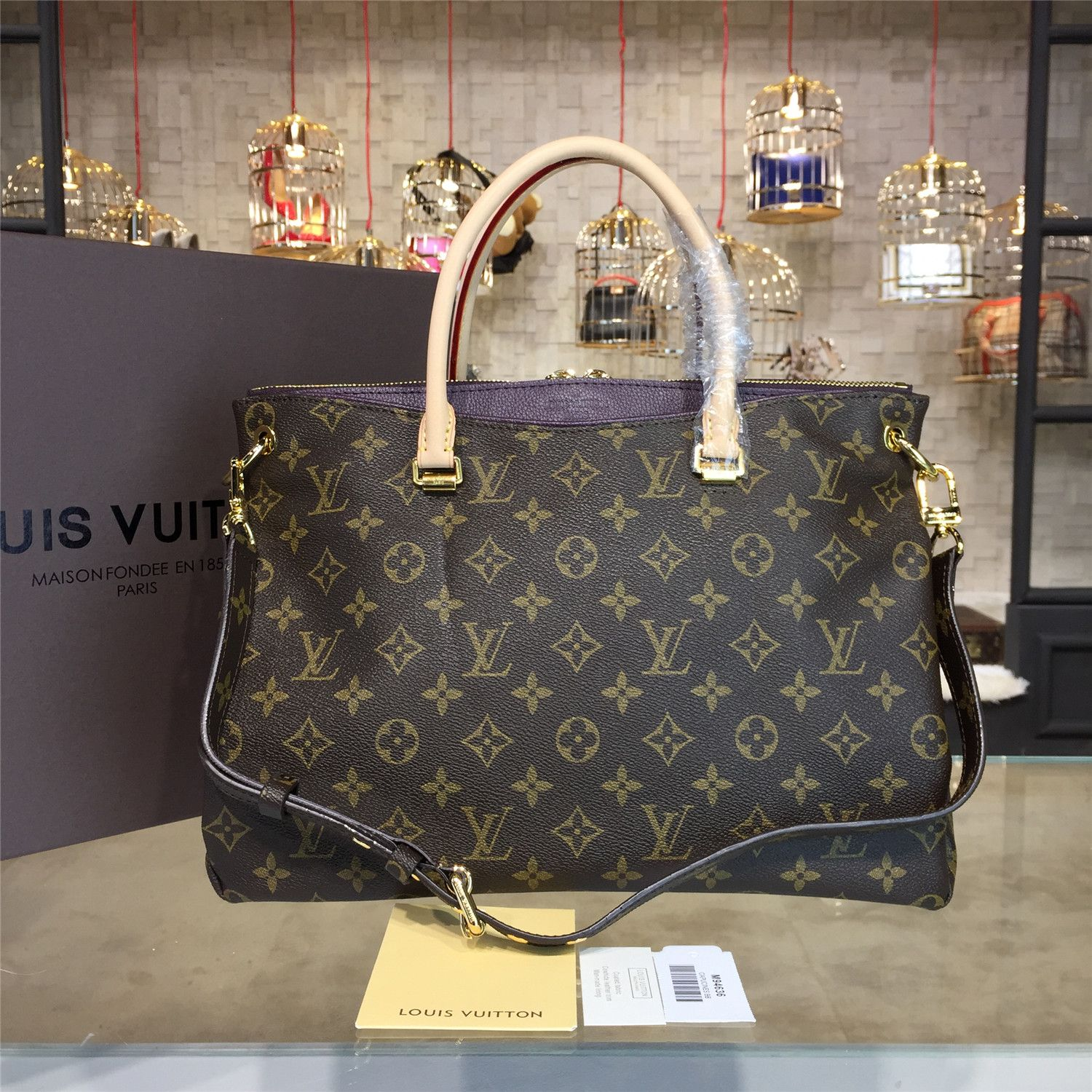 4968d58c7290 The BEST Louis Vuitton PALLAS Counter Quality Replica Available Online!  Experience the Designer Discreet difference