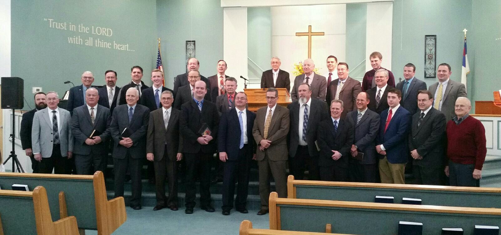 We had a great time at a pastors meeting.