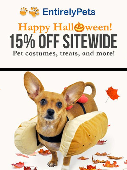 Entirely Pets is offering Happy Halloween 15 discount on