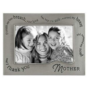 transform the look of your home or office with mother picture frame wavy words pewter with its simple yet modern design it can be combined with other - Mom Frames