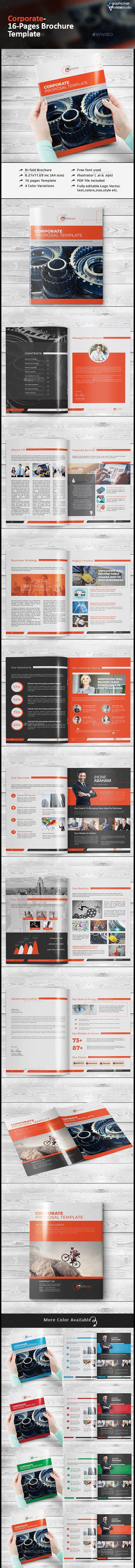 Corporate Business Brochure Template #design Download: http://graphicriver.net/item/corporate-business-brochure/12750911?ref=ksioks