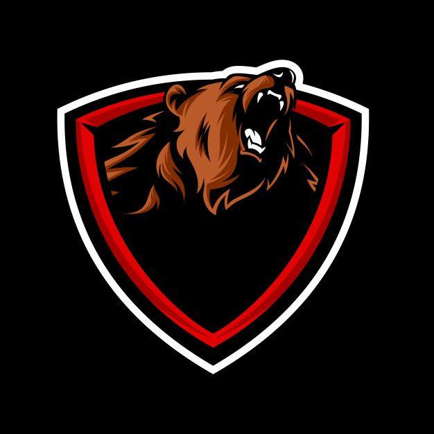 Logotipo De La Mascota De Grizzly. Vector Premium