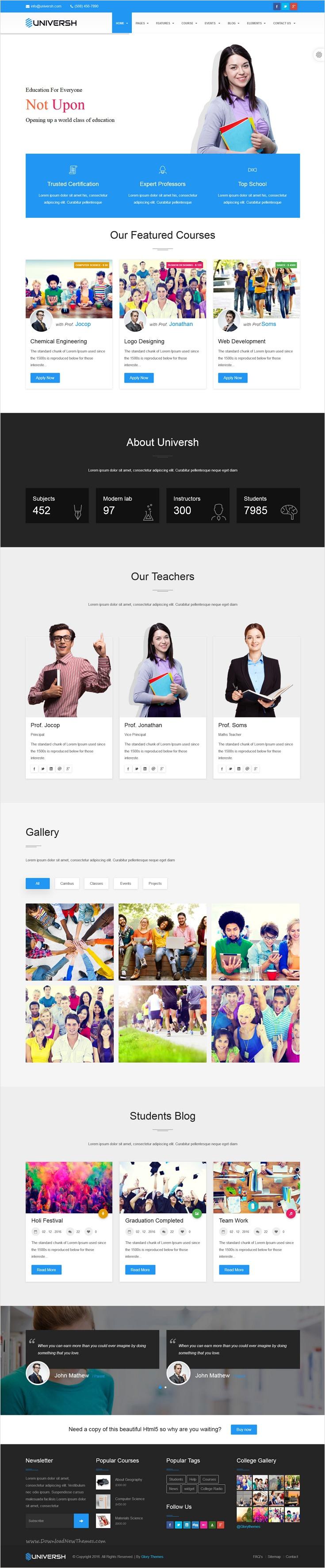 Universh is a professional Business & Educational Joomla template