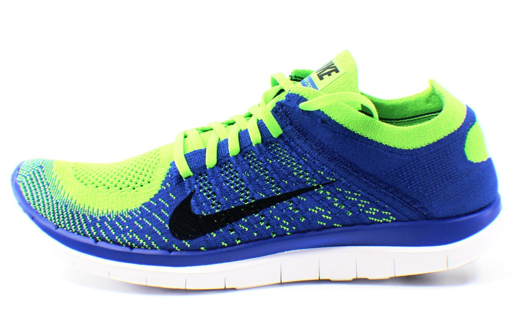 huge discount 49197 32a28 NIKE Free 4.0 Flyknit Size 11.5 (Royal Blue Black Electric Green)