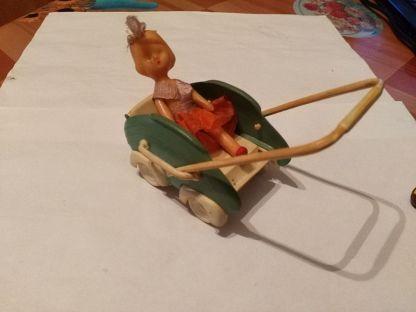 кукла СССР с коляской, колкий пластик, резина, клеймо ФХИ ...
