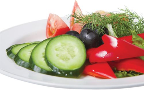 #Fresh Spring Garden Salad 1 kg # tomatoes  3 cloves # garlic  2 pinches dried #mint  2 pinches #salt  2 pinches# pepper  Juice of 2 #lemons  500gr #cucumber  #Olive oil