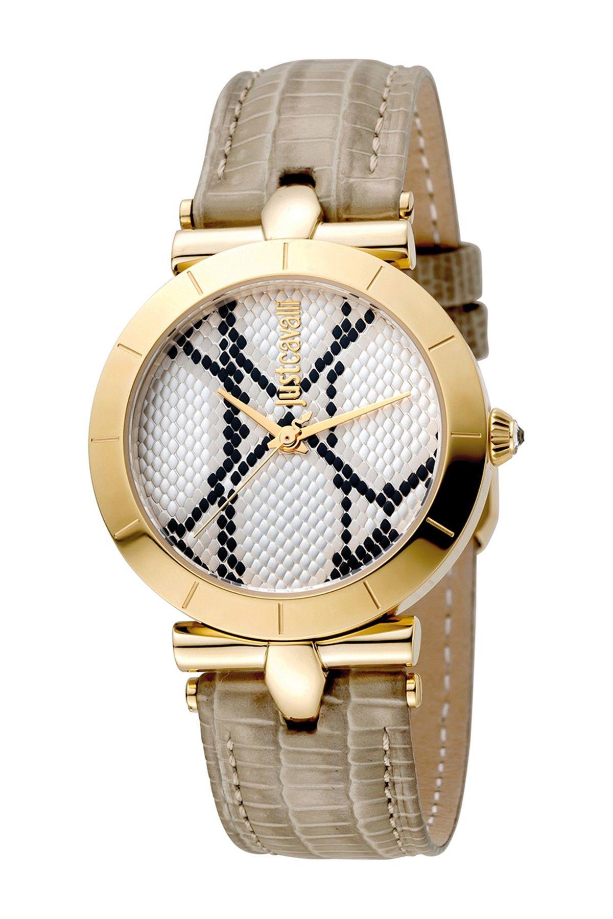 d5dcaae98d9c0 Just Cavalli Women's Animal Devore Leather Strap Watch | fashion ...