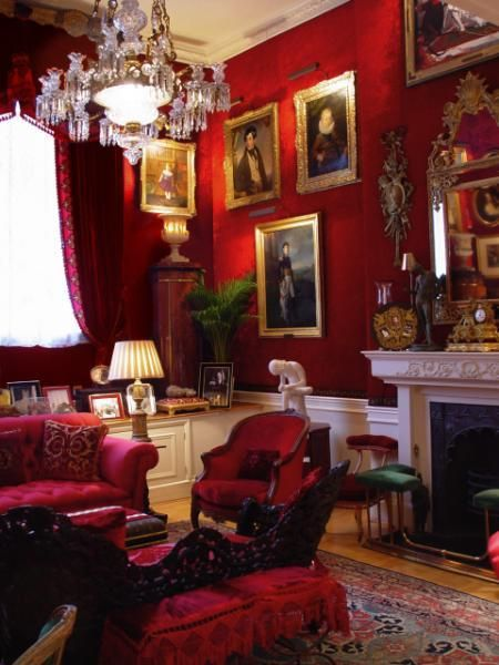 Knightsbridge Victorian Red Red Home Decor Victorian Living Room Decor Red Living Room Decor