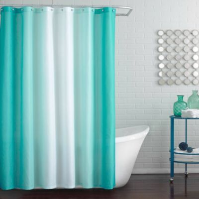 Blaire Shower Curtain In Peacock Blue Shower Curtain Track