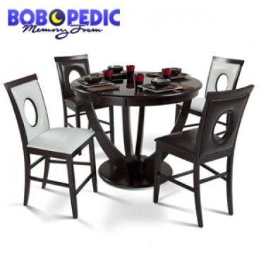 meridian 5 piece pub set/ glass top/ bob's | home decor