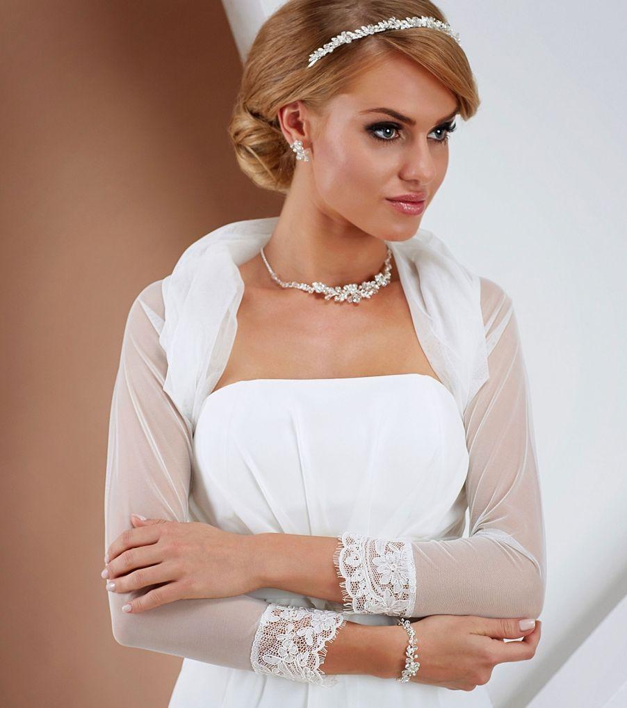 tüll boleró esküvői ruhához Chrysalis Esküvő -www.chrysalis-eskuvo.hu