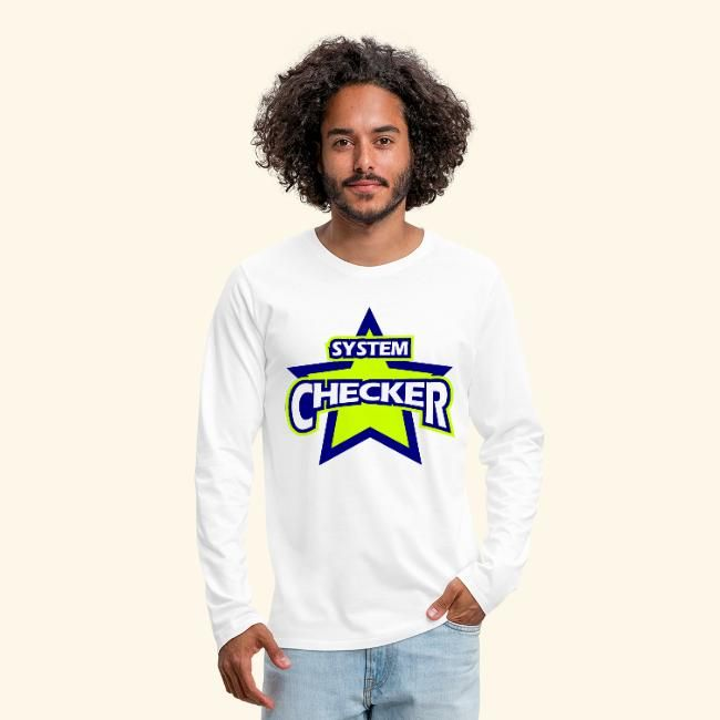 Photo of Luigis Shirt Shop | System Checker cool funny nickname electrican – Mens Premium Long Sleeve T-Shirt