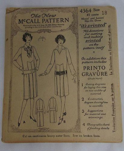 Set of 3 Vintage McCall 1921 Sewing Patterns Ladies Dress Size 18 27801381   eBay