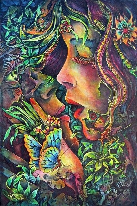 Psychedelic Nature Art Wallpaper Google Search Psychedelia Art