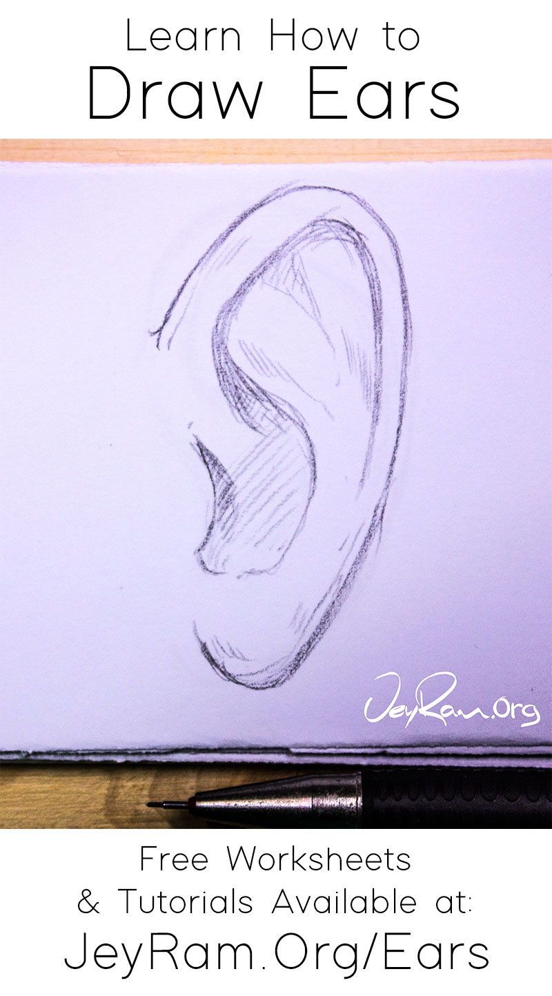 How To Draw Ears In 2020 How To Draw Ears Drawings Ear