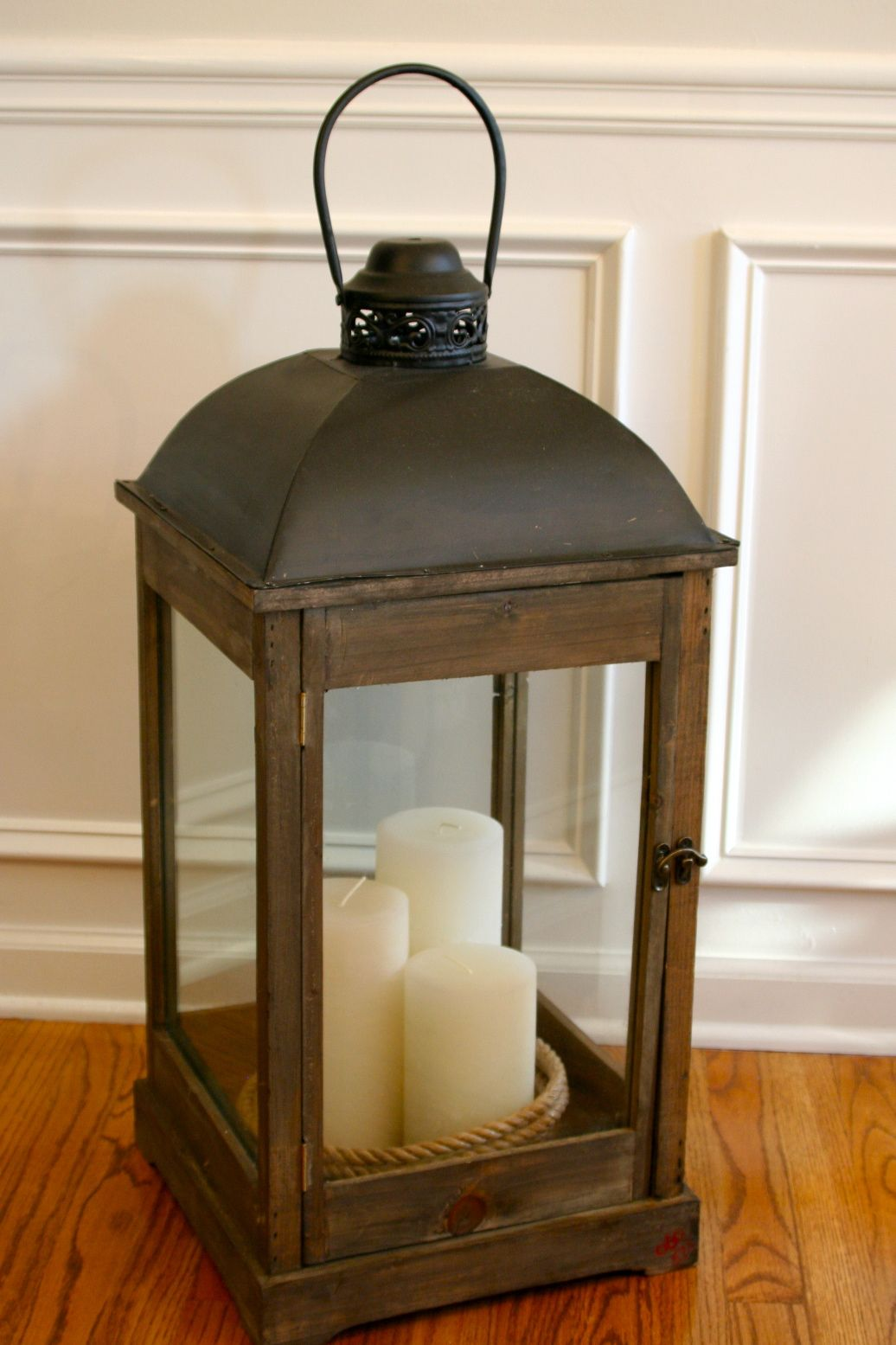 premium selection 058f8 d1277 candles in oversized lantern | Home | Lanterns decor ...