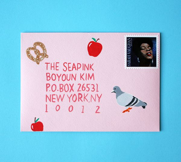 NYC decorated envelope | Oh Happy Day!
