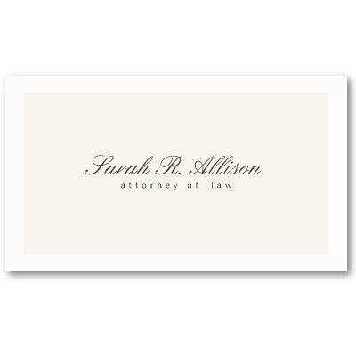 Business Simply Elegant Attorney Off White Card