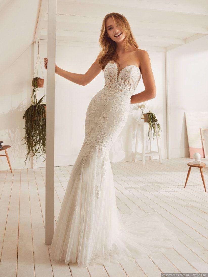 f57ac8c988dfc 50 Vestidos de noiva com decote coração para brilhar em 2019 ...