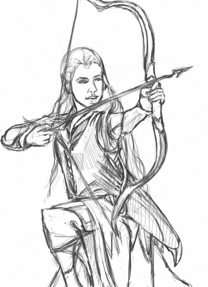 Printable The Hobbit Coloring Pages Legolas | movie coloring and ...