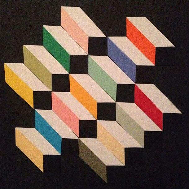 Blocked Ascension - Carlyn Wutkee, 2011. Paper, gluestick.