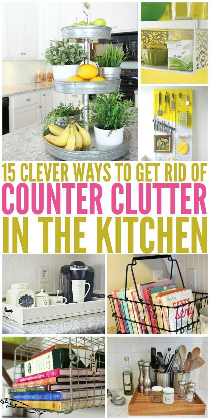 Photo of 15 Clever Ways to Get Rid of Kitchen Counter Clutter #kitchenorganizations