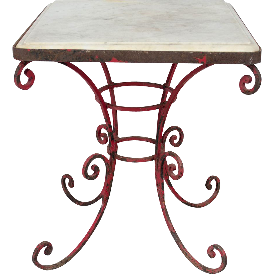 French Wrought Iron Garden Table @rubylanecom #VintageGarden ...
