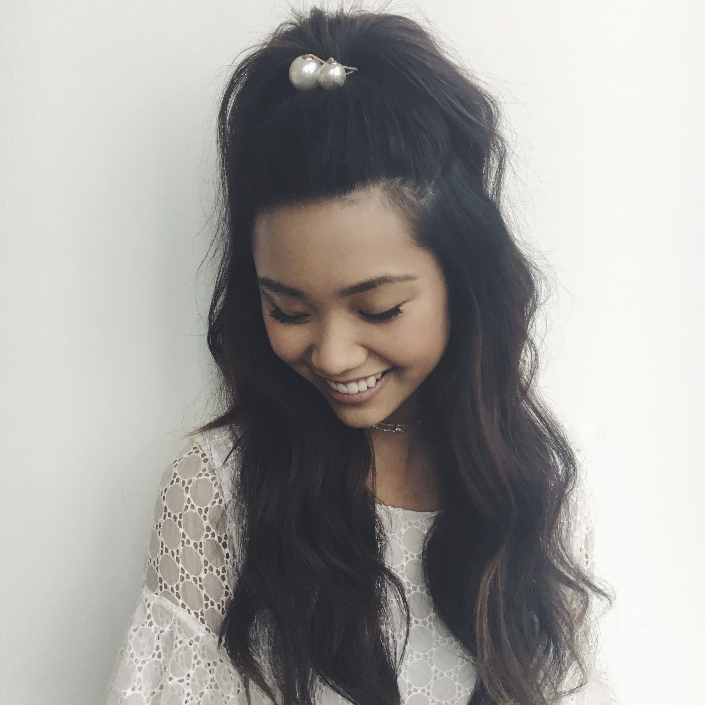 A glamorous updo meets long + loose waves is there