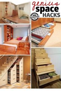 25 Practical Tips To Help You Get Organized   Space hack, Small ...