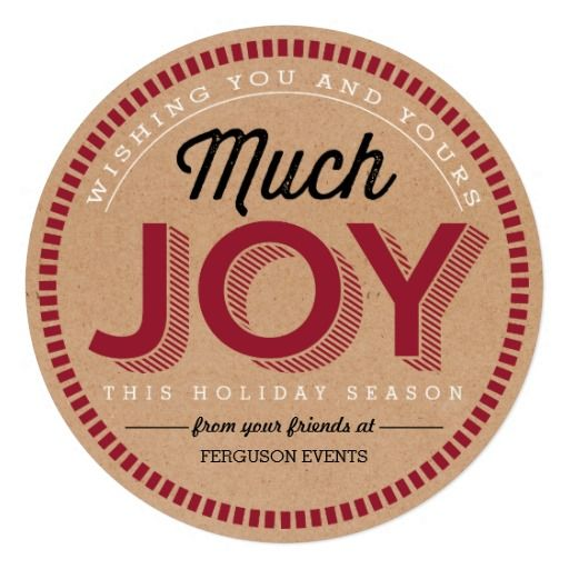 Much Joy Business Holiday Cards Invites
