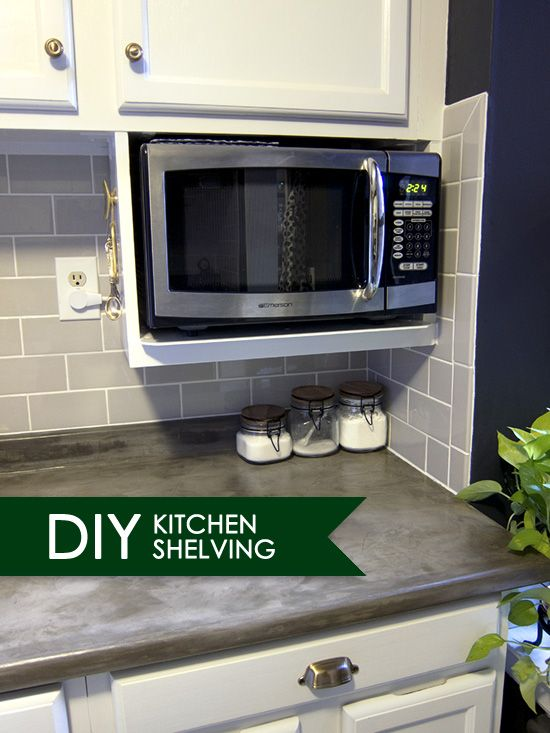 Major Diy S In The Kitchen Part 3 Additional Shelving Microwave In Kitchen Kitchen Design Diy Kitchen
