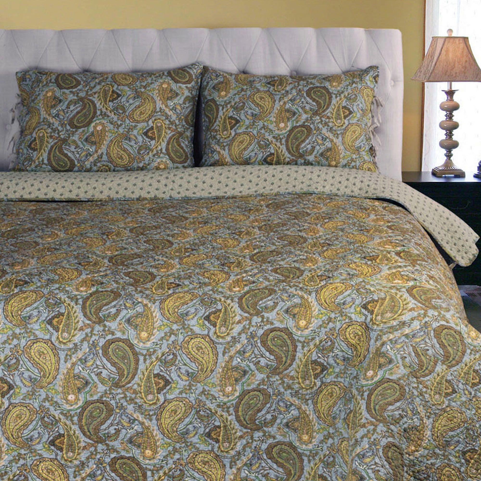 quilt taupe quilts p set piedmont light paisley comforter bedding
