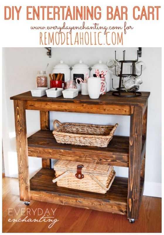 Build A Wood Bar Cart For Entertaining And Storage Day 5