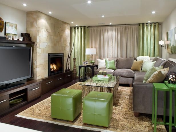 Basement Rec Room Decor Ideas Like The Stone Fireplace And