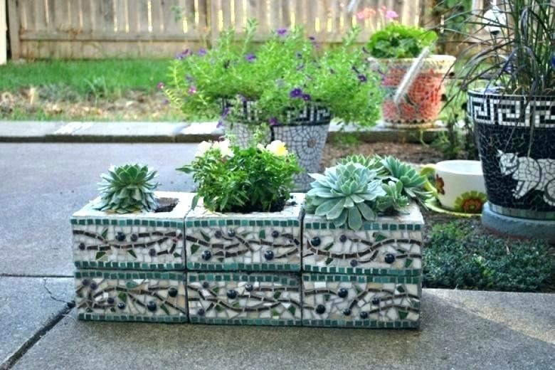 Painted Cinder Block Garden Painting Cinder Blocks For Garden Cinder Block Garden Ideas Furnit Cinder Block Garden Wall Cinder Block Garden Herb Garden Planter