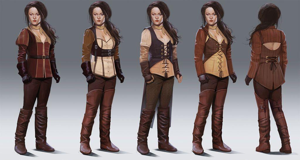 Female Fantasy Clothing Concept Art