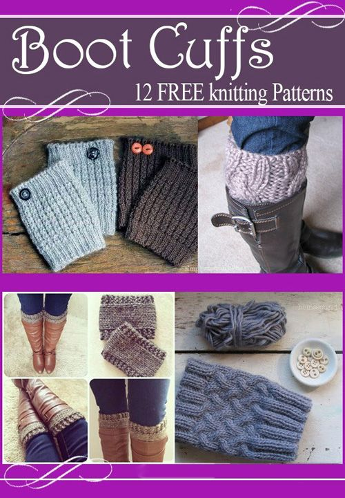 Boot Cuffs Free Knitting Patterns (Amazing Knitting) #bootcuffs