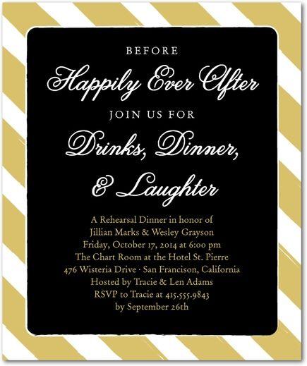 Pre Wedding Dinner Invitation: Studio Basics: Rehearsal Dinner