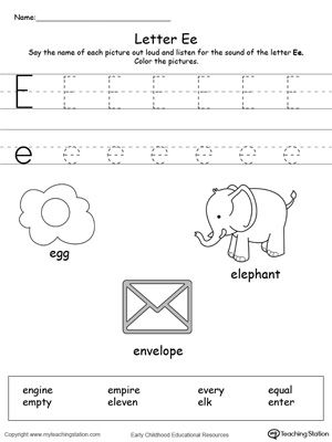 words starting with letter e learning letter e worksheets learning letters tracing letters. Black Bedroom Furniture Sets. Home Design Ideas