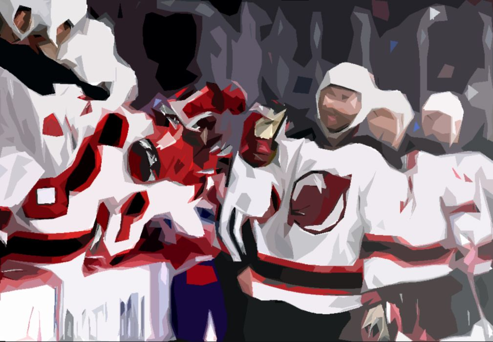 Kyle Palmieri #21 of the New Jersey Devils celebrates with
