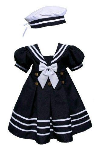 8207e591dc0 Buy Nautical Navy Dress for Toddler Girls