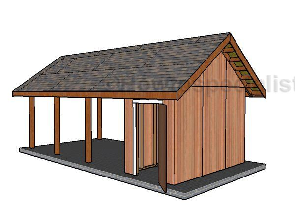 Single Carport With Storage Roof Plans Howtospecialist How To Build Step By Step Diy Plans Diy Carport Carport With Storage Carport Plans