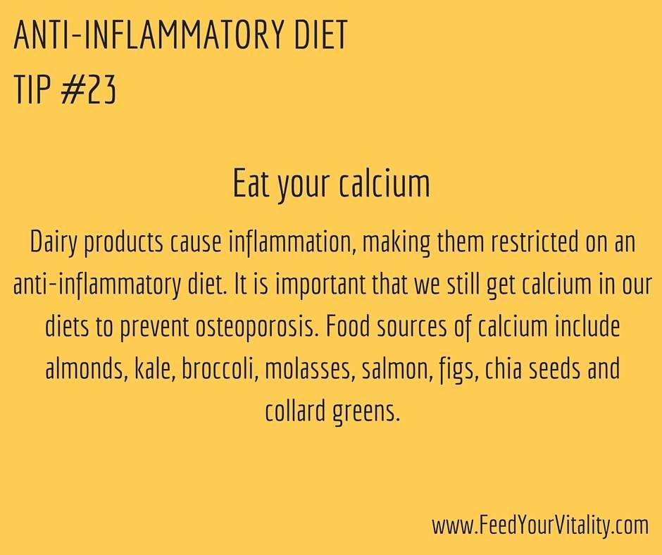 anti inflammatory diet calcium