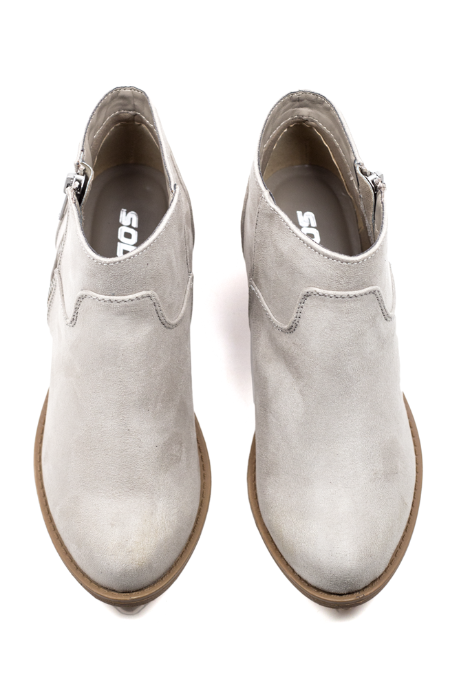 Pair these neutral-toned booties with your favorite skinny jeans or slip dress for a night on the town.