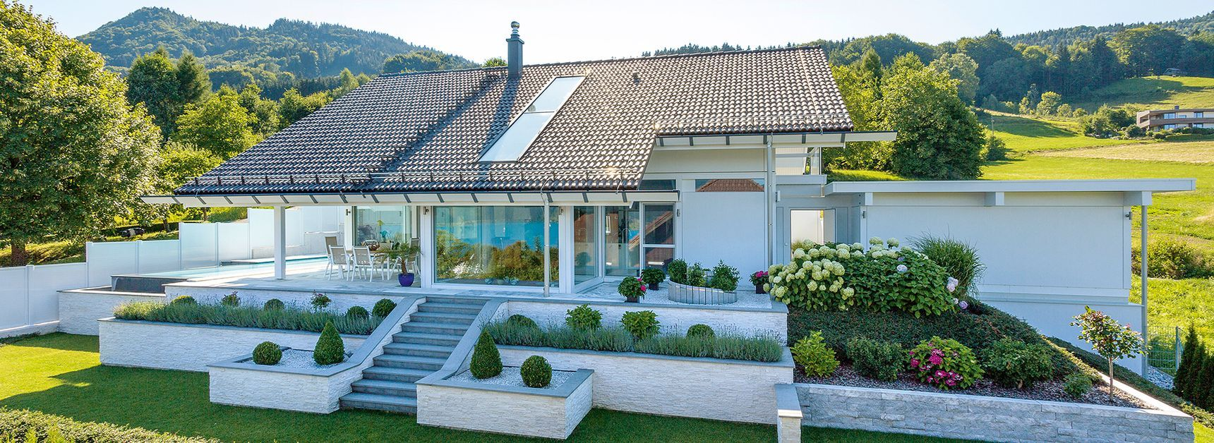 musterh user moderne fachwerkarchitektur musterhauszentrum huf haus haus pinterest. Black Bedroom Furniture Sets. Home Design Ideas