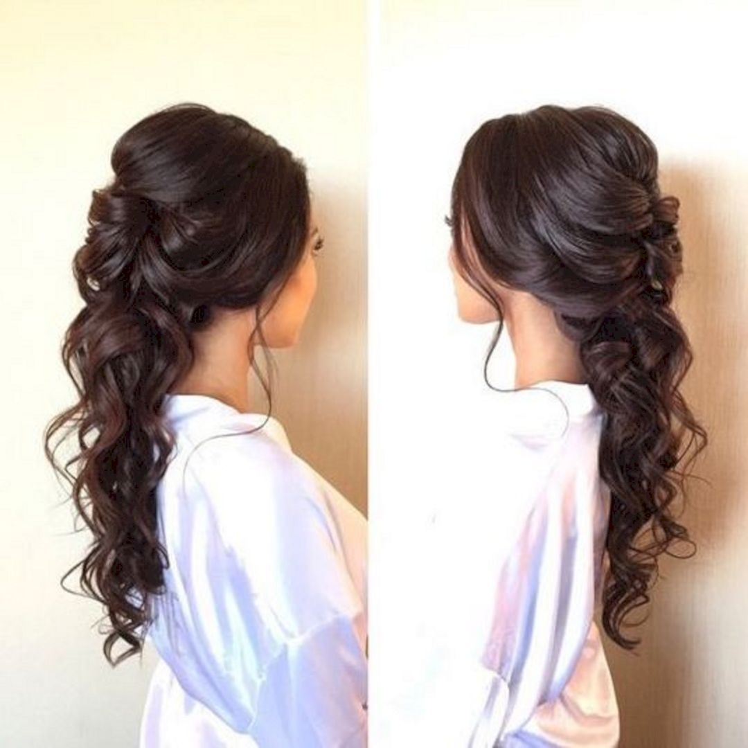 The Prettiest Half Up Half Down Wedding Hairstyles We've Ever Seen